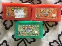 I have 2 pokemon firered and 1 leaf green for sale $50