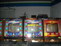 poker machines starting at 550.00. more than 50 games.