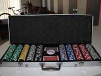 I have a really nice poker set in an aluminum case.