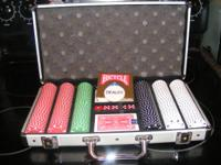Premium Poker Set in Aluminum carrying case. $20 Must
