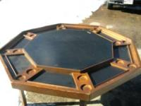 I have a used poker table holds 8 people legs fold up
