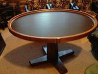 poker table that coverts to a solid top table by