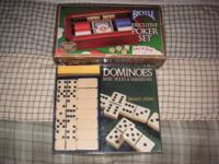 Brand name new Bicycle Executive Poker Set and Dominoes