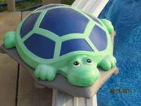 Turtle cleaner for aboveground pools up to 5-feet deep.