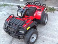 Red polaris goes up to 5 mph forward and also goes in