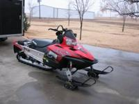 2008 polaris dragon snowmobile, sled has a 155 track,