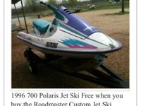 1996 Polaris jet ski an trailer had motor rebuilt took