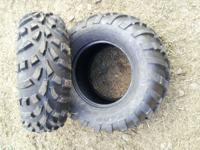 Brand new tires off of a Polaris ranger. 2 25x10-12 and