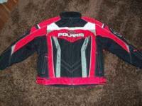 Mens Polaris snowmobile jacket. Like new. Size large.