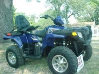 2009 Polaris Sportsman Touring 800 EFI, Seating for 2.