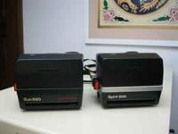 Polaroid camers one is a SUN 660 the other SPRINT 600