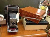 Polaroid Model 900 Land Camera. With Box and Carrying
