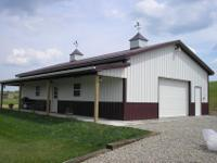 Pole barn garage kit completely assembled on your land