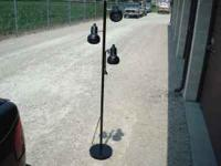 Black Pole Lamp , top condition , works perfect ,