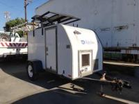 Police Traffic Speed Trailer Solar powered. Working