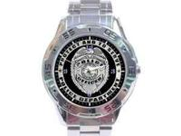 BRAND NEW STAINLESS STEEL POLICE WATCH.... 35.00