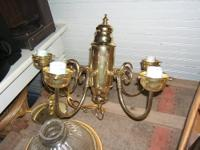 5-Light Back to Basics Polished Brass Chandelier Adds