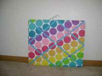 Cute polka-dot french memo board. Would be perfect for