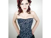 * High quality Polka Dot Corset, fully lined inside. *
