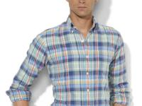 This trim-fitting sport shirt is crafted from