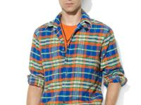 This Western-inspired plaid shirt features patch