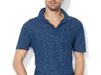 Polo Ralph Lauren's striped jersey polo is stone-washed
