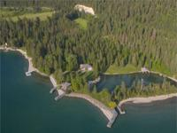 The Sanctuary at Flathead Lake is a level 4.6-acre