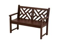 Share the elegance of this beautiful Chippendale bench