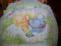Very cute pond theme crib bedding for $15. Includes