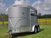 2008 Ponderosa 2 horse bumper pull trailer, 7 ft. tall.