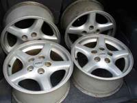 Here is a factory set of the gray 5 spoke alloy wheels