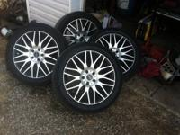 I have a nice set for 225/50/17 inch rims&tires. The