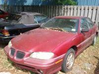 THIS PONTIAC GRAND AM IS BEING SOLD FOR PARTS ONLY