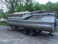 2003 22 ft Party Barge 50 HP Honda