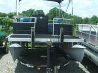 1977 HARRIS FLOAT PONTOON WITH A 55HP JOHNSON WITH 155