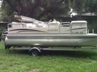 South Bay 18ft. Pontoon boat, 2 new batteries, boat