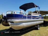2014 suntracker 20 dlx fishing barge like new condition