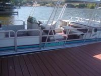 FOR SALE: 1992 LOWE 24 FT PONTOON, WITH 90 HP