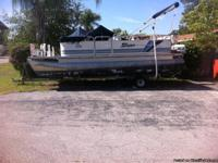 For sale.   1995 Sylvan Pontoon boat, 20