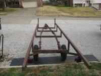 nice solid pontoon trailer- needs a coat of paint and