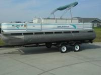 20' PONTOON WITH TRAILER AND 50HP FORCE MOTOR, ALL