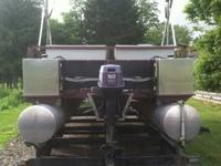 24' PONTOON BOAT ... Brand brand-new floor and