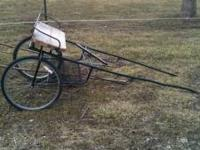 Freshly painted black pony cart. Ready to go. For