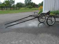 "Superior Sulky, 74"" shafts, Hackney show cart, gently"