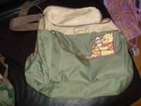 Green pooh diaper bag only $10 call or text if
