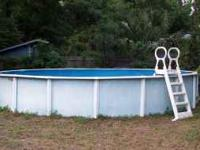 Above ground pool. In great condition. Could use a new