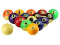 This is a professional Aramith pool ball set that can