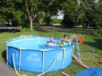 Pool for Sale Metal Frame Pool 12 ft by 3ft 3in. Gently