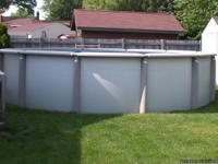 Above ground pool for sale,Only used for 2 seasons,