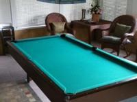 Nice Pool table! comes with cover, has new felt. Call